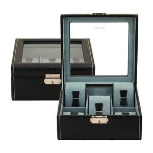 Czarne pudełkona 6 zegarków Friedrich Lederwaren Bond
