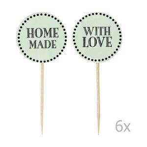 Zestaw 12 zielonych ozdób na tort Miss Étoile Home Made With Love