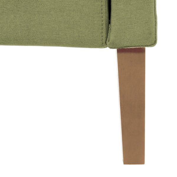 Zielone łóżko z naturalnymi nóżkami Vivonita Windsor, 160x200 cm