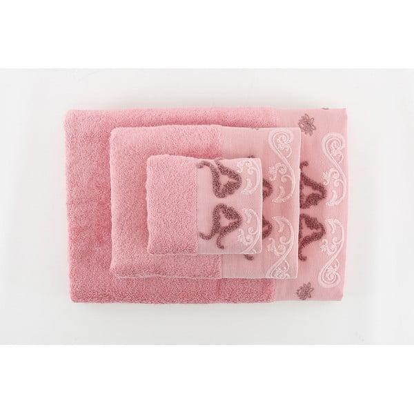 Zestaw 3 ręczników Lale Dusty Rose