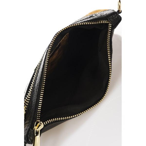 Skórzana torebka Croco, koniakowa