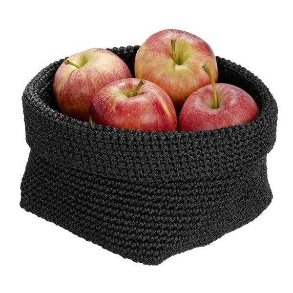 Czarny koszyk okrągły Wenko Malia