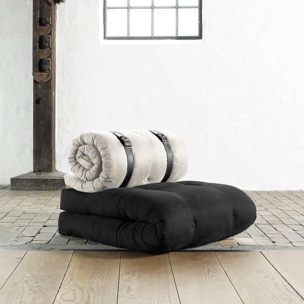 Fotel rozkładany Karup Buckle Up Grey/Natural