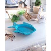 Niebieski talerz dekoracyjny Orchidea Milano Fish