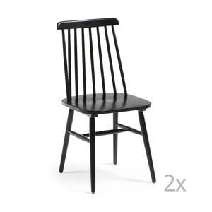Zestaw 2 czarnych krzeseł La Forma Kristie