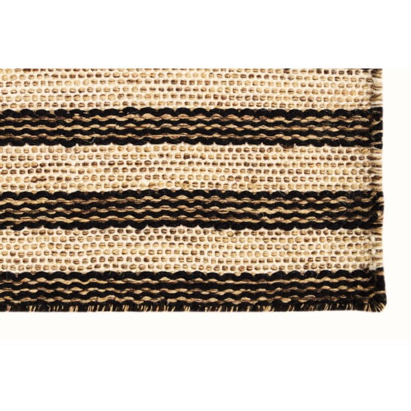 Ręcznie tkany kilim Dark Brown Lines Kilim, 110x155 cm