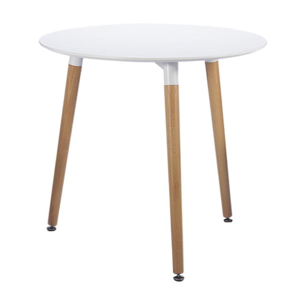 Biały stół Leitmotiv Elementary, ø 80cm