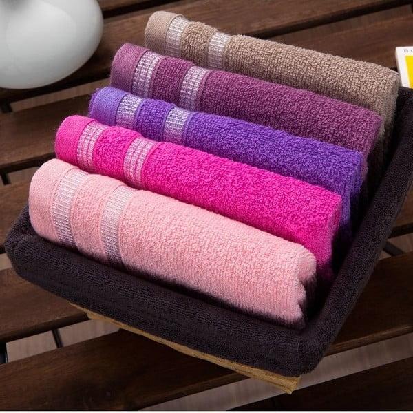 Zestaw 5 ręczników Smoky Basket, 30x50 cm