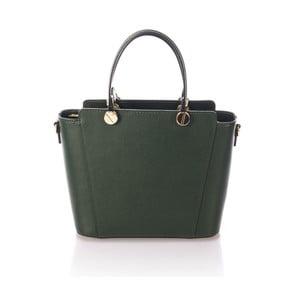 Zielona skórzana torebka Giulia Massari