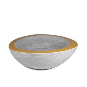 Średnia betonowa misa, złota
