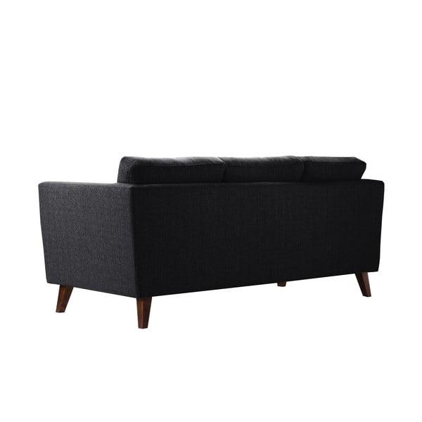 Czarna sofa trzyosobowa Jalouse Maison Elisa