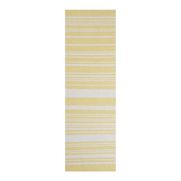 Żółty dywan bawełniany Linie Design Glorious, 60x90 cm