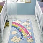 Niebieski dywan dziecięcy Confetti Rainbow, 100x150 cm