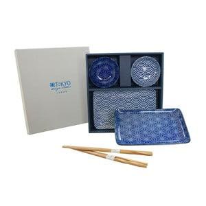 Zestaw talerzy i pałeczek Nippon Blue Orient dla 2 osób