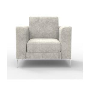 Fotel Miura Munich, pokrycie kremowe, zamszowe