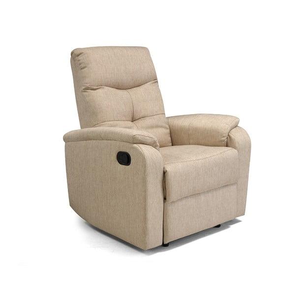 Fotel/leżanka Etos, beżowa tkanina