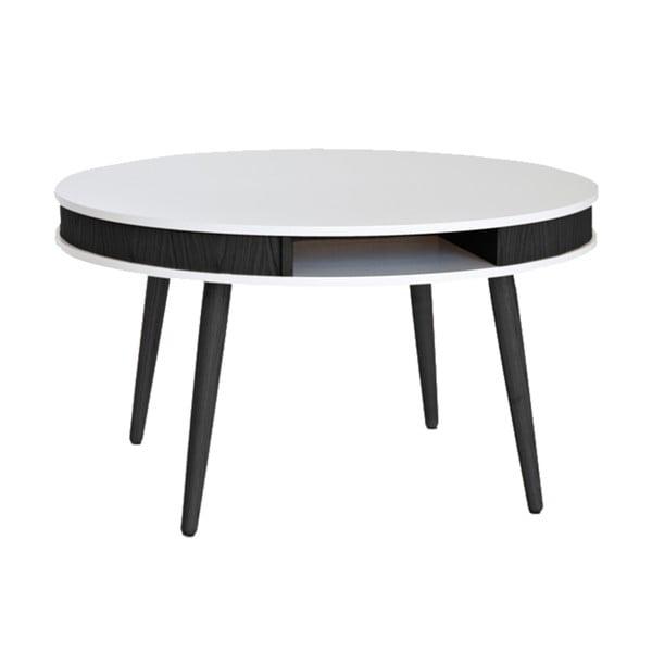 Czarno-biały stolik RGE Hugo, 90 cm
