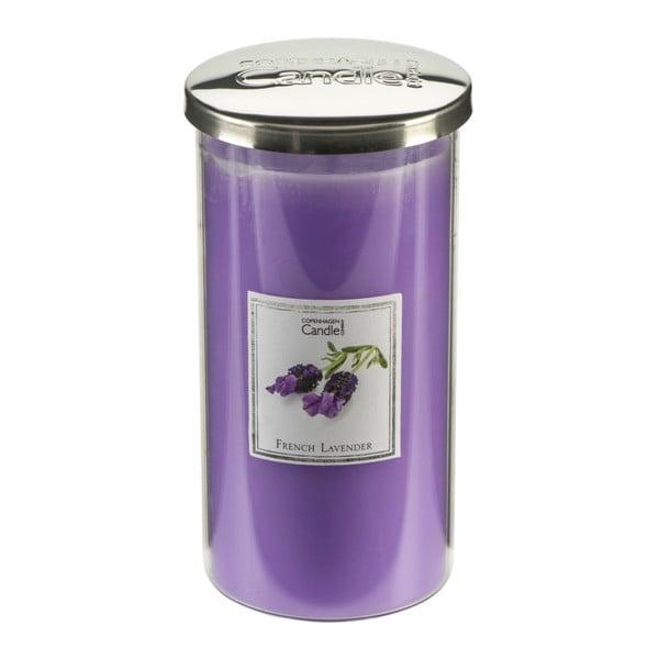 Świeczka zapachowa o zapachu lawendy Copenhagen Candles French Talll, czas palenia 70 godz.
