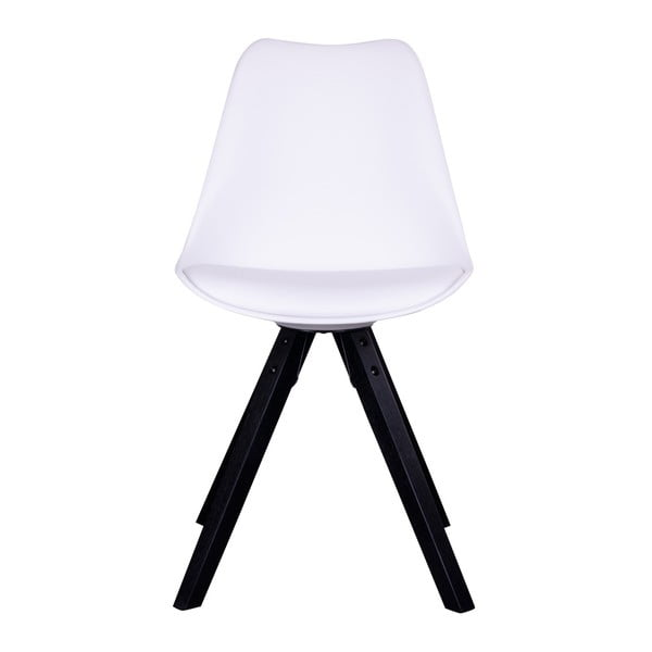 Zestaw 2 białych krzeseł z czarnymi nogami House Nordic Bergen