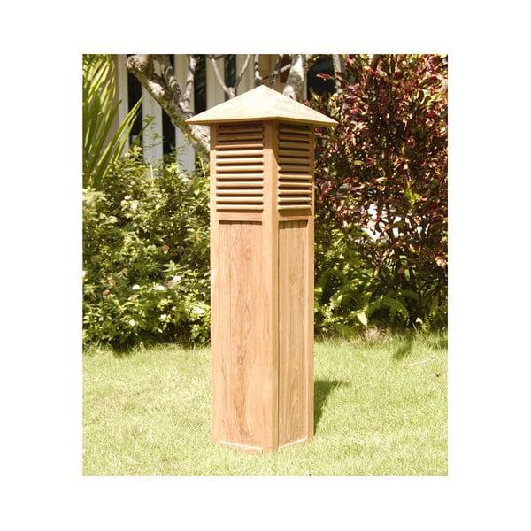 Lampa ogrodowa z drewna tekowego Santiago Pons