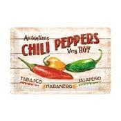 Blaszana tablica Chili Peppers, 20x30 cm