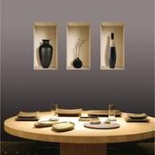 Naklejki na ścianę 3D Vases Louxor, 3 szt.