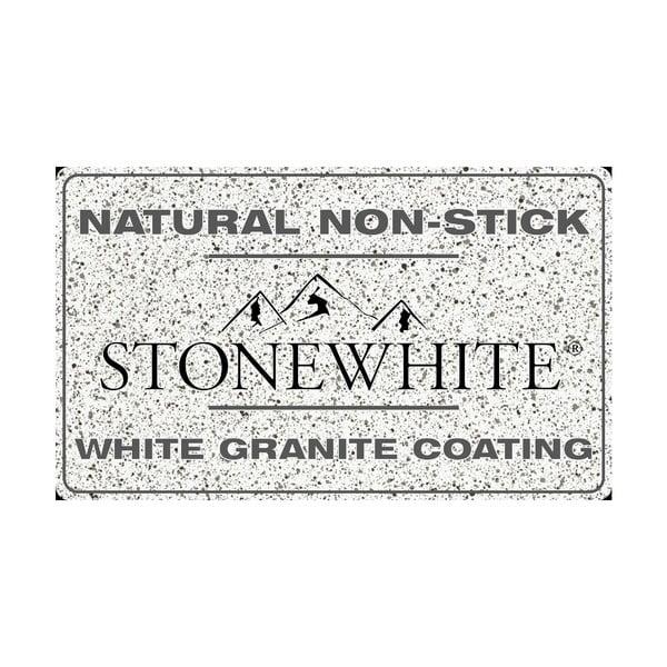 6-częściowy zestaw naczyń z pokrywkami i uchwytami w srebrnym kolorze Bisetti Stonewhite Federica