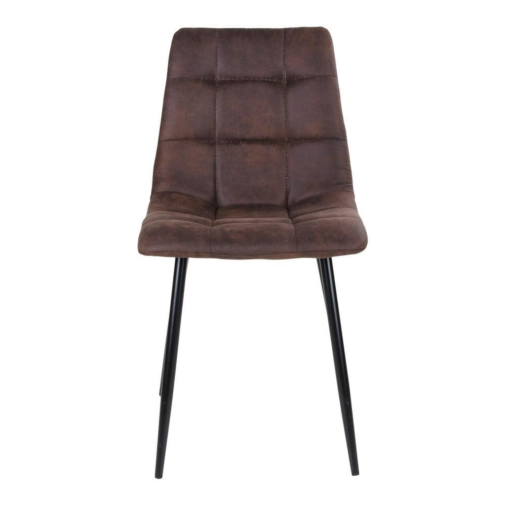 Zestaw 2 ciemnobrązowych krzeseł House Nordic Middelfart
