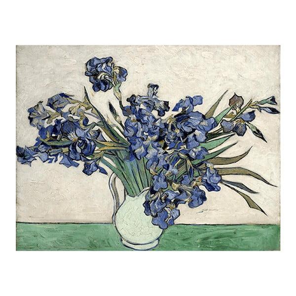 Obraz Vincenta van Gogha - Irises 2, 90x60 cm