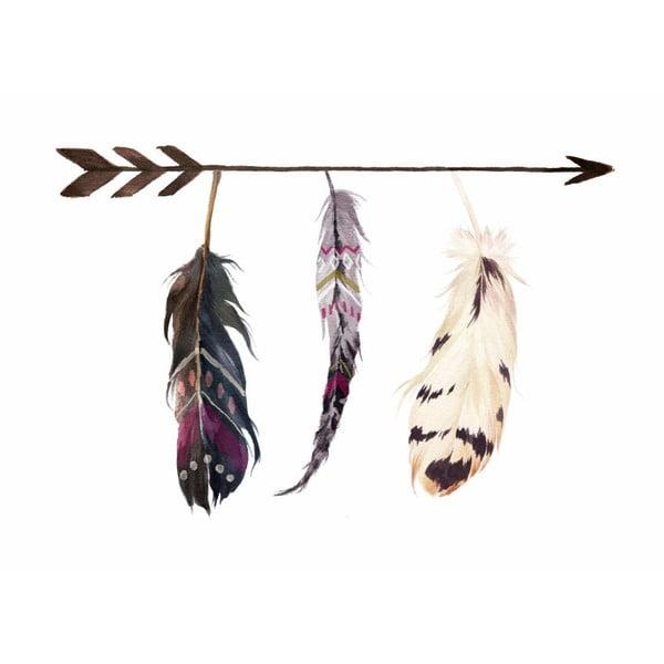 Plakat w drewnianej ramie Style feather, 38x28 cm