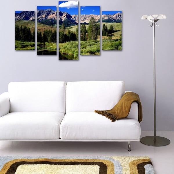 Pięcioczęściowy obraz W górach