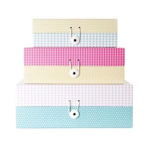 Zestaw 3 pudełek Grid Colour