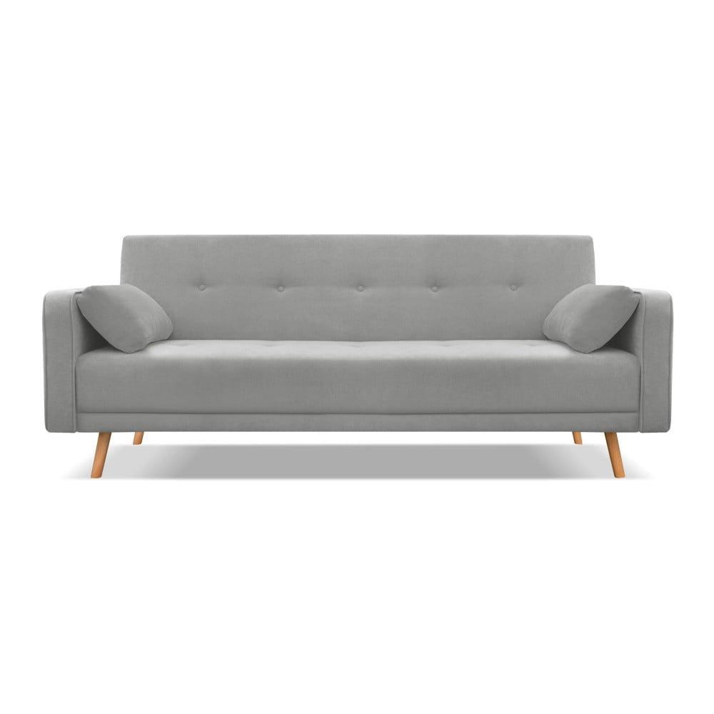 Ciemnoszara sofa rozkładana Cosmopolitan Design Stuttgart