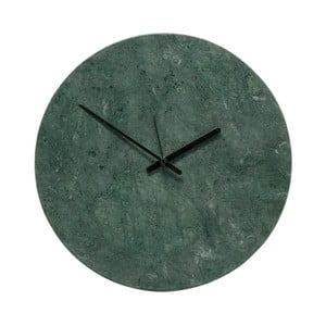 Zielony zegar marmurowy Hübsch Tempus