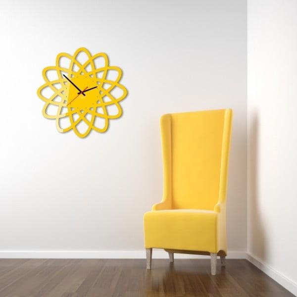 Zegar ścienny Yellow Elipse