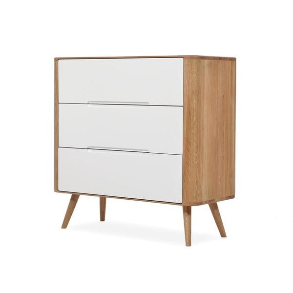 Dębowa komoda z szufladami Gazzda Ena One, 90x90 cm