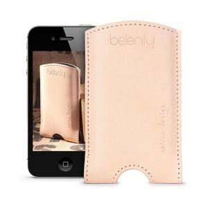Skórzane etui na iPhone 4/4s Cream