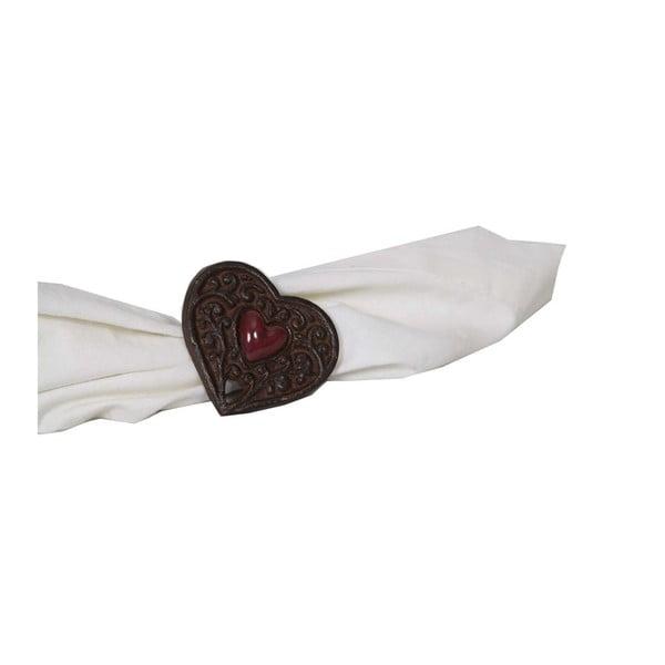 Pierścień na serwetkę Antic Line Chalet Heart