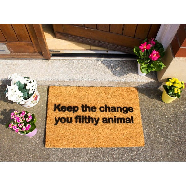Wycieraczka Artsy Doormats Keep The Change, 40x60 cm