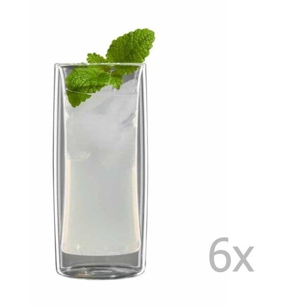 Zestaw 6   średnich szklanek bloomix Kavex
