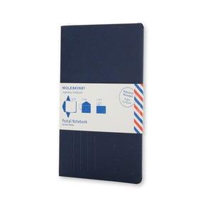 Ciemnoniebieski notatnik z okładką Moleskine Postal L