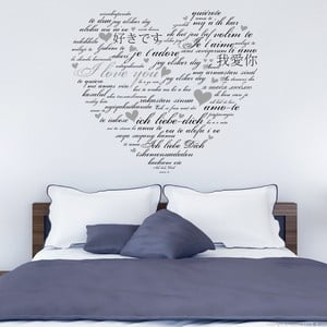 Naklejka ścienna Love You, 90x60 cm