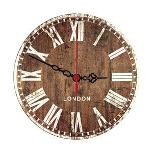 Zegar ścienny Wooden London, 30 cm