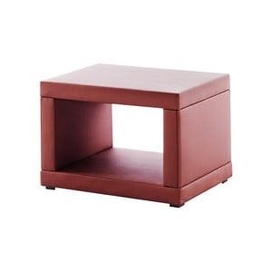 Czerwona szafka nocna z ekologicznej skóry Novative