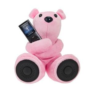 Niedźwiadek Hi-George z wbudowanym głośnikiem, różowy