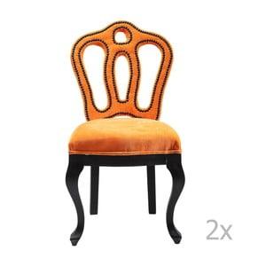 Zestaw 2 krzeseł z aksamitną tapicerką Kare Design Royal