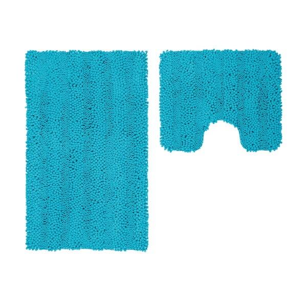 Zestaw 2 dywaników łazienkowych z wcięciem Surface Turquoise