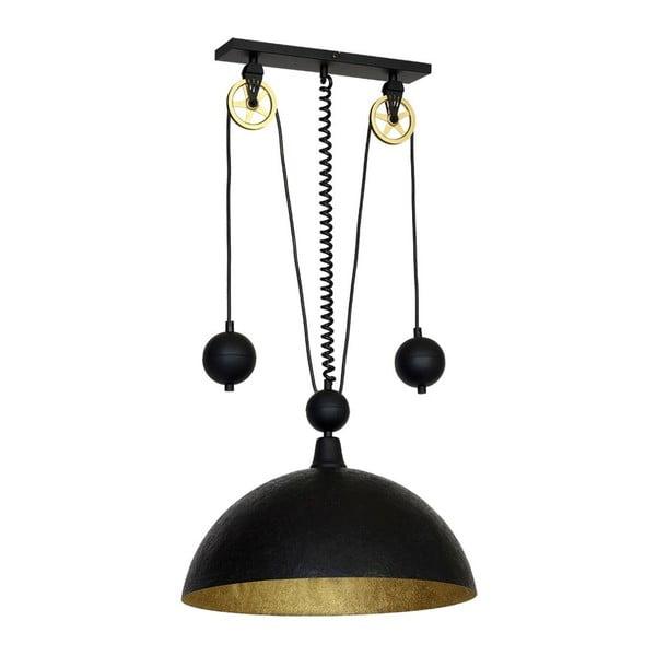 Czarna lampa wisząca Perseus Antico Rund