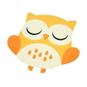 Dywan Owls - żółto-pomarańczowa sowa, 66x66 cm