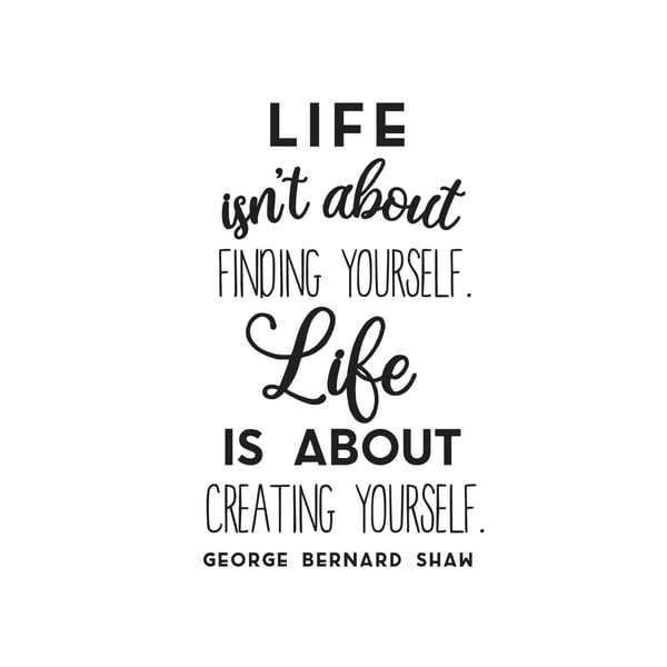 Naklejka dekoracyjna Creating Yourself